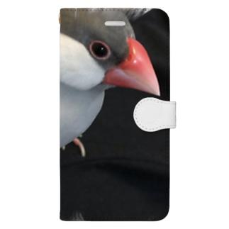 文鳥スポット Book-style smartphone case