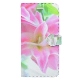 豊かな暮らし♡ローズリリー Book-style smartphone case