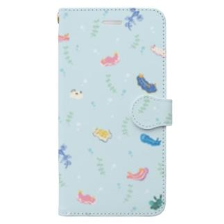 ウミウシ Book-style smartphone case