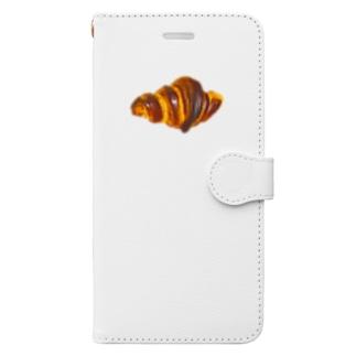 焼きたてパン クロワッサン Book-style smartphone case