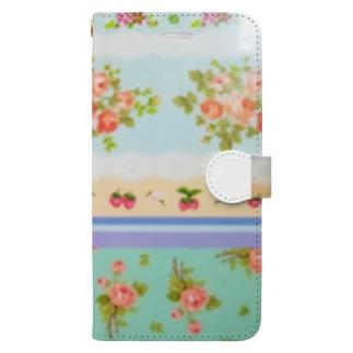 ストロベリーローズ Book-style smartphone case