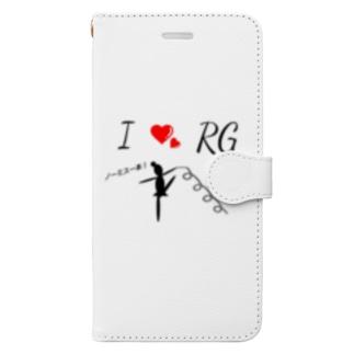 新体操 リボン ノーミス Book-style smartphone case