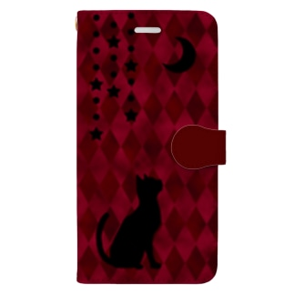 やなぎの気まぐれの月と猫 Book-Style Smartphone Case