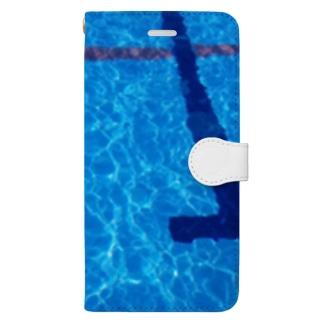 プール Book-style smartphone case