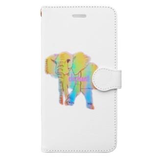 カラフルぞうさん Book-style smartphone case