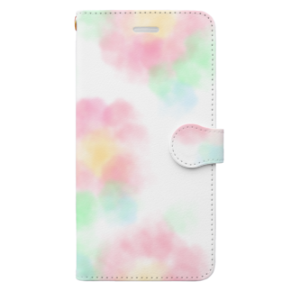 thiki07の水彩花柄 Book-style smartphone case