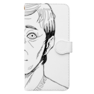 Vネックおじさん Book-style smartphone case