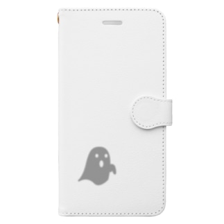 弱きなおばけクン Book-style smartphone case