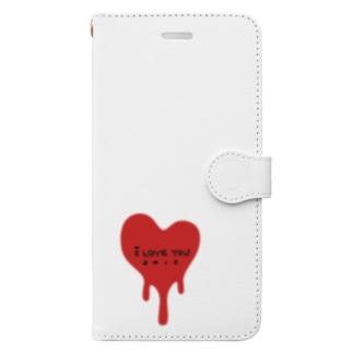 とろけるハート Book-style smartphone case