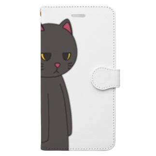 黒猫のえる Book-style smartphone case