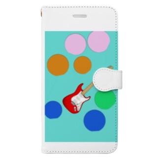 水玉エレキ Book-style smartphone case