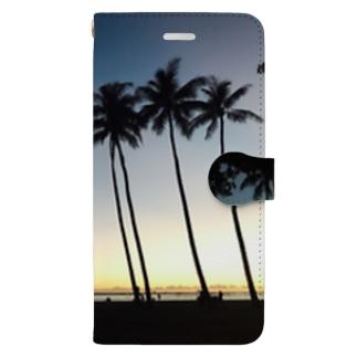 ハワイの夕暮れ Book-style smartphone case
