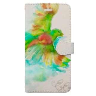 幸運の鳥ケツァール Book-style smartphone case
