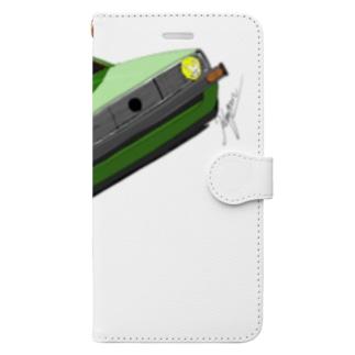 Slammed car② Book-style smartphone case