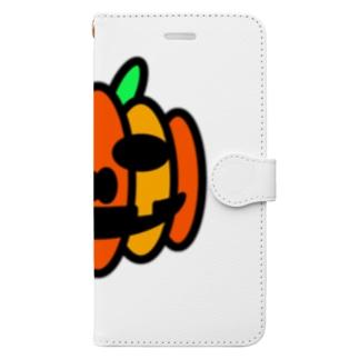 ハロウィンのあいつ Book-style smartphone case