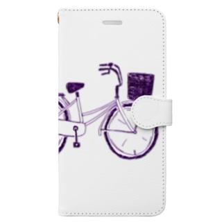 自転車デザイン「ママチャリ」 Book-style smartphone case