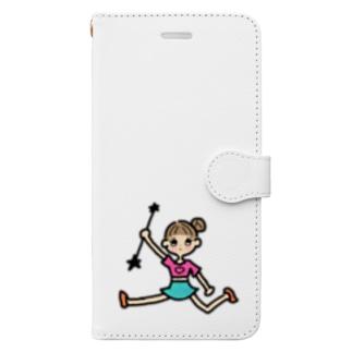 BUNBUN KURUKURUのバトンガール Book-style smartphone case