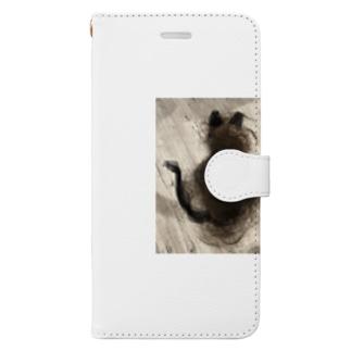 髪の毛ねこたん Book-style smartphone case