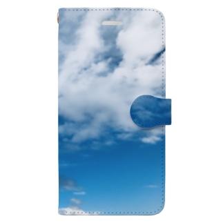 雲がもくもく Book-style smartphone case