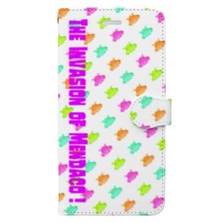 メンダコの侵略 -POPver.- Book-style smartphone case
