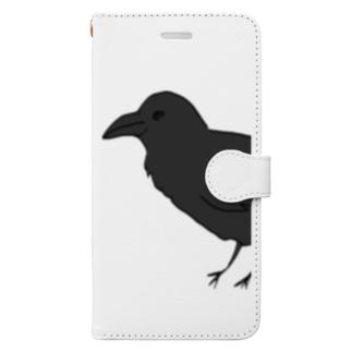 からす Book-style smartphone case