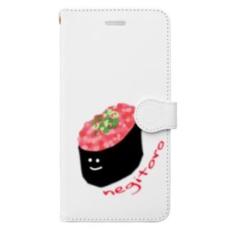ねぎとろちゃん Book-style smartphone case