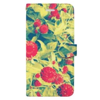 まるはな(赤) Book-style smartphone case