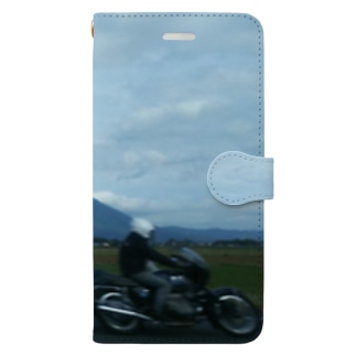 ツーリング風景 Book-style smartphone case