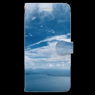 Nienaの琵琶湖の空 Book-style smartphone case
