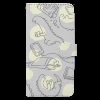 ふるえるとりのヨフカシザウルス Book-style smartphone case