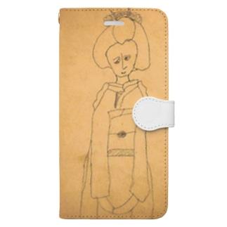 昭和のらくがき・舞妓さん Book-style smartphone case