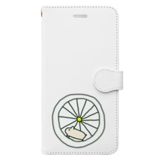元気なハムスター Book-style smartphone case
