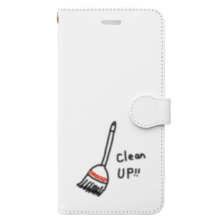 Clean up  Book-style smartphone case