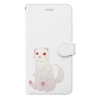 フェレットアルビノ1 Book-style smartphone case