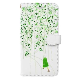 森でローラースケート Book-style smartphone case
