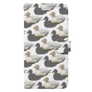 アヒル Book-style smartphone case