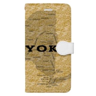 タオル地の柄なんです。 Book-style smartphone case