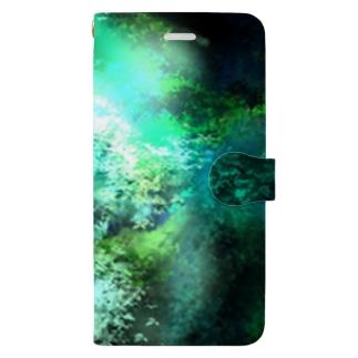 緑の大自然 Book-style smartphone case
