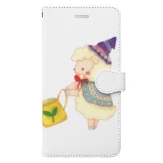 宝石きのこのお世話 Book-style smartphone case
