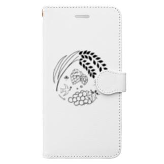のんすけ公式ロゴ Book-style smartphone case