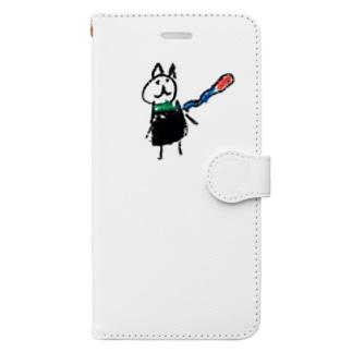 娘マフちゃん Book-style smartphone case