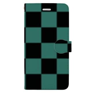 市松模様 Book-style smartphone case