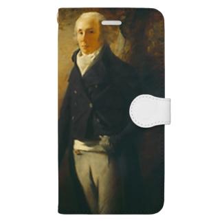 ヘンリー・レイバーン作 肖像画「デイビッド・アンダーソン」 Book-style smartphone case