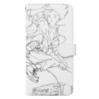 ロックドロップキック Book-style smartphone case