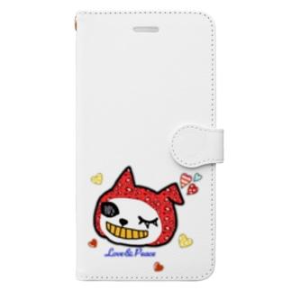 LovePeaceねこかぶりちゃん Book-style smartphone case