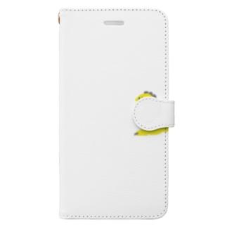 namunamuのドット恐竜 1匹 黄色 イエロー Book-style smartphone case