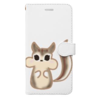 ramu-chanのリスちゃん Book-style smartphone case