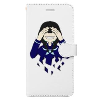 笑え Book-style smartphone case