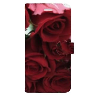 バラの花束 Book-Style Smartphone Case