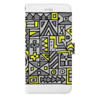 マルサンカクシカク_グレー Book-style smartphone case